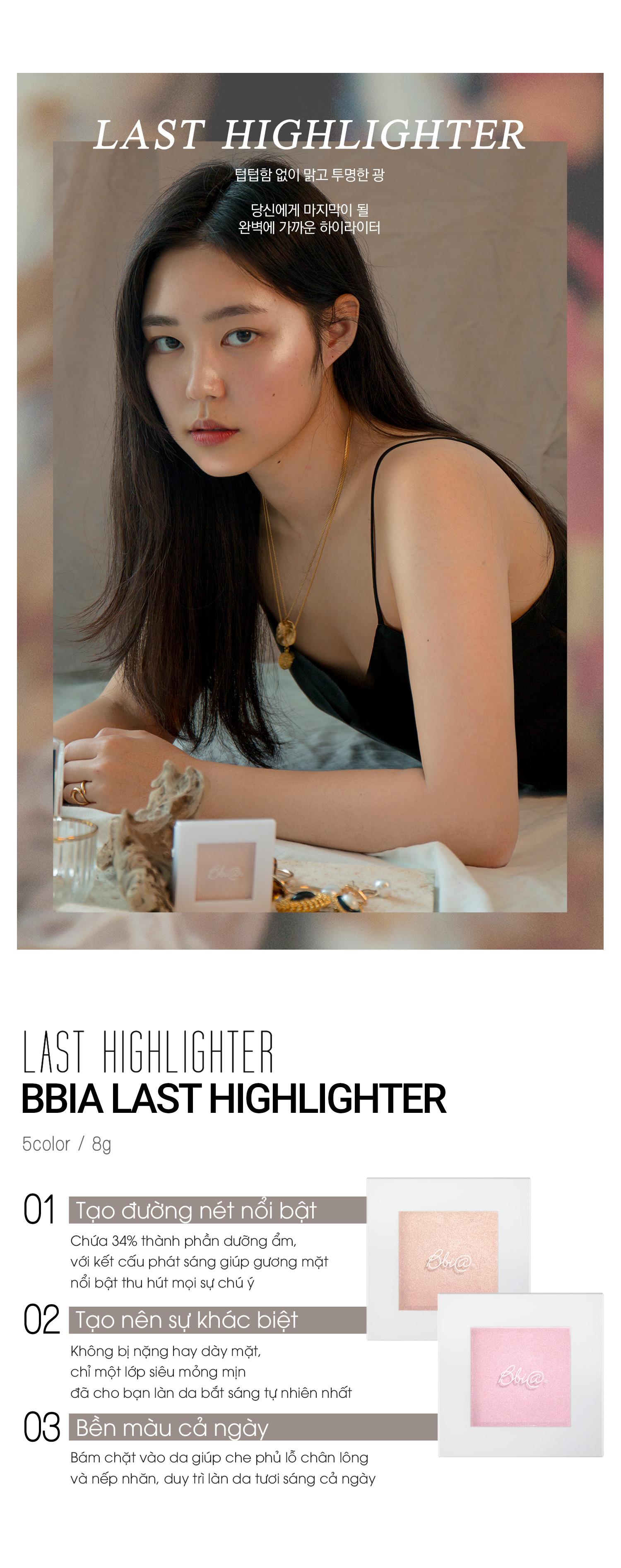 Phấn Bắt Sáng Bbia Last Highlighter 8g (5 màu) 1