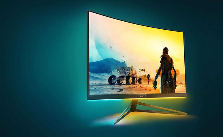 Màn Hình Cong Gaming Philips 328M6FJMB 32 Inch QHD (2560 x 1440) 4ms 144Hz AMD FreeSync MVA Stereo Speaker 3W x 2 - Hàng Chính Hãng