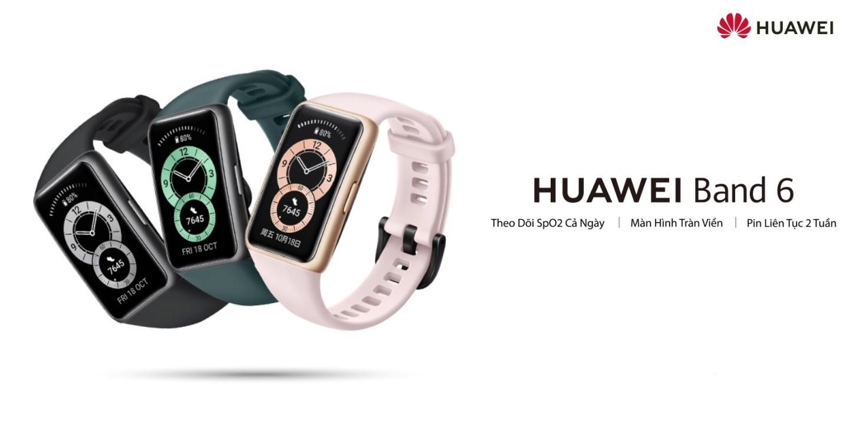 Vòng Đeo Tay Thông Minh HUAWEI Band 6 | Theo Dõi SpO2 Cả Ngày | Màn Hình  Tràn Viền | Pin Liên Tục 2 Tuần | Hàng Chính Hãng | Huawei Flagship Store