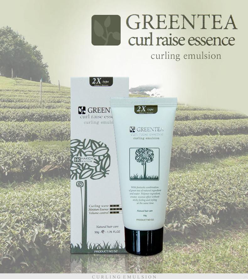 Tinh Chất Trà Xanh Dưỡng Giữ Nếp Tóc Uốn Haken Green Tea Curl Raise 2X essence Chính Hãng 50g 5