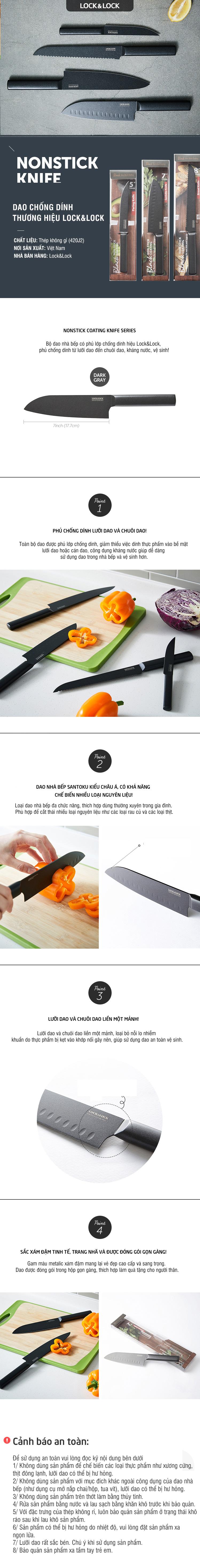 Dao Nhà Bếp Santoku Knife