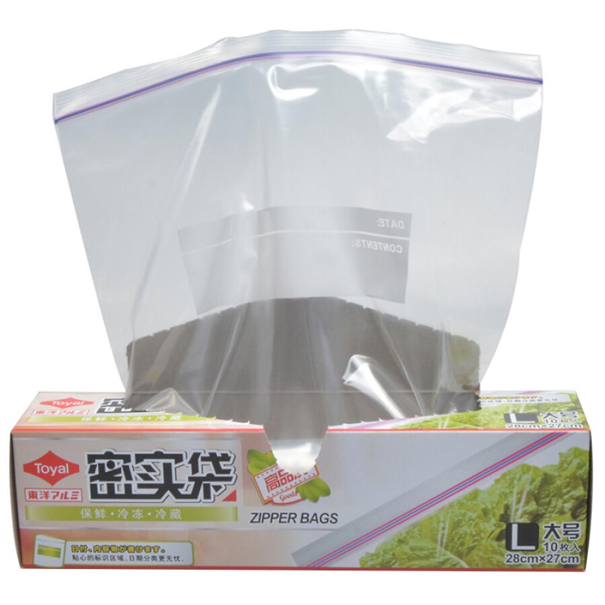 Túi Zip Đựng Thực Phẩm Chống Thấm Nước TOYAL (Hộp 10 Túi x 3 Hộp)