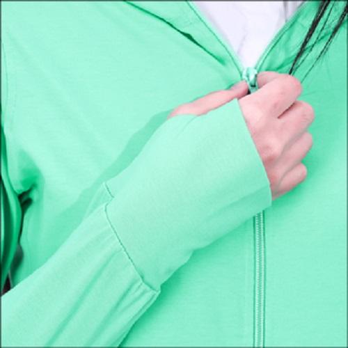 Áo khoác nữ thoát nhiệt Nhật Bản GOKING, áo chống nắng 100% cotton thoáng mát, thấm hút mồ hôi 6