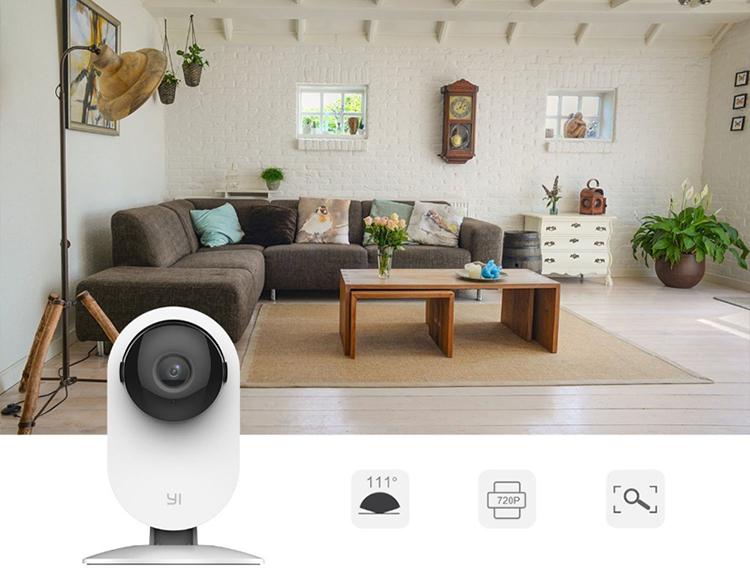 Combo Camera Quan sát Yi Home HD 720P Quốc Tế + Thẻ Nhớ - Hàng Chính Hãng