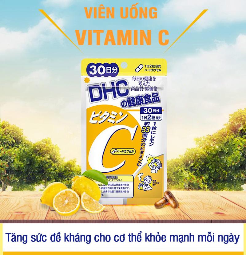 Combo SÁNG DA - MỜ THÂM DHC Nhật Bản gồm viên uống vitamin C và viên uống trắng da 30 ngày JN-DHC-CB1 8