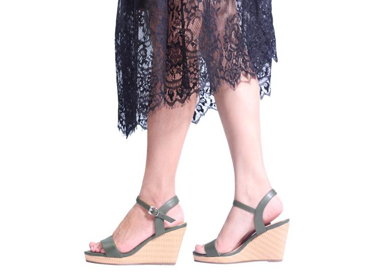 Giày Nữ Đế Xuồng 7P Hở Gót Pixie P826 1