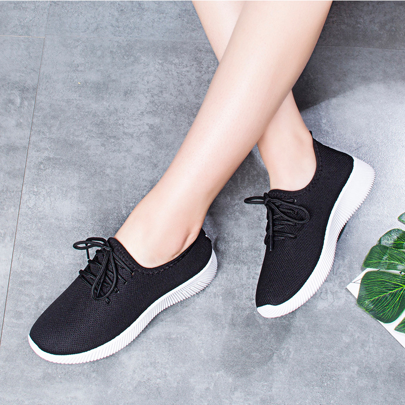 Giày nữ thể thao nữ thời trang đế cao su - Đen 3
