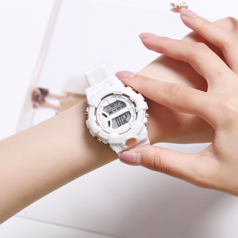 Đồng hồ điện tử nam và nữ KASAWI k562 Sports Đồng hồ Học sinh trung học cơ sở Hàn Quốc thể thao chống thấm nước- xem giờ điện tử - báo thức - bấm giờ thể thao - xem lịch ngày tháng thứ - Dây Silicone Bền Chắc 16