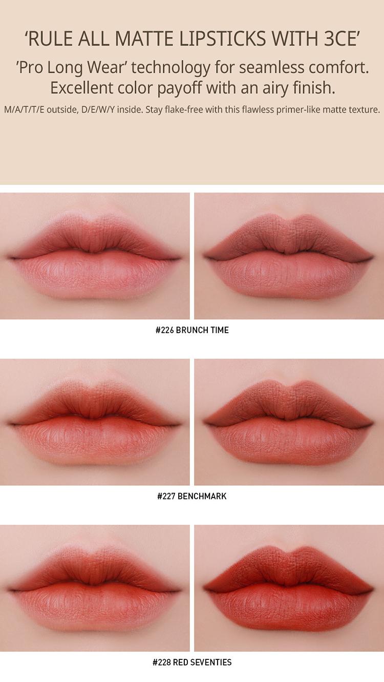 Son Lì 3CE Matte Lip Color - 226 Brunch Time