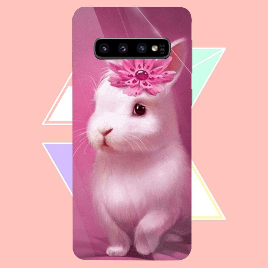 Ốp điện thoại kính cường lực cho máy Samsung Galaxy S10 - dễ thương muốn xỉu MS CUTE060