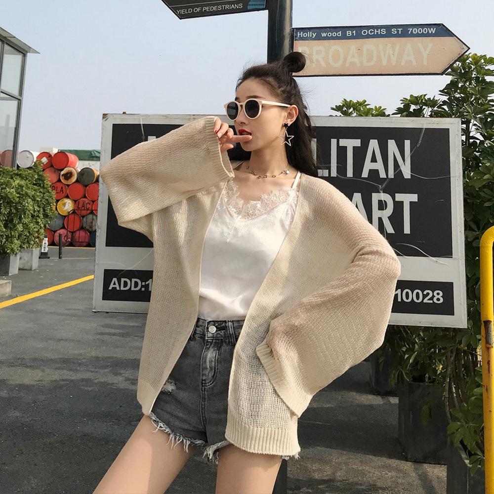 Áo Khoác Cardigan Nữ Len Mỏng Dệt Kim Siêu Hot 5