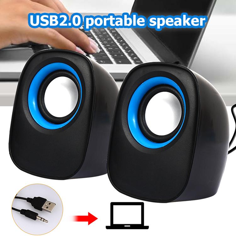 Laptop Soundbar Computer Speaker Portable Subwoofer USB2.0 MP3 Tablet