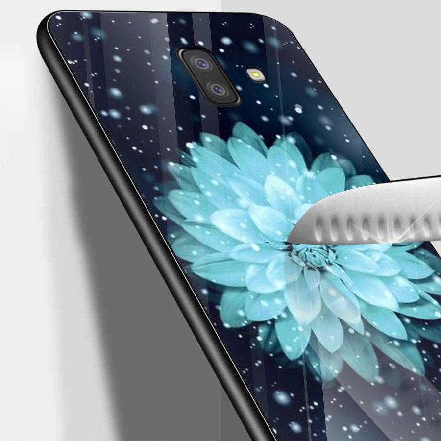 Ốp kính cường lực cho điện thoại Samsung Galaxy J6 - Đủ nắng thì hoa nở MS DNTHN001