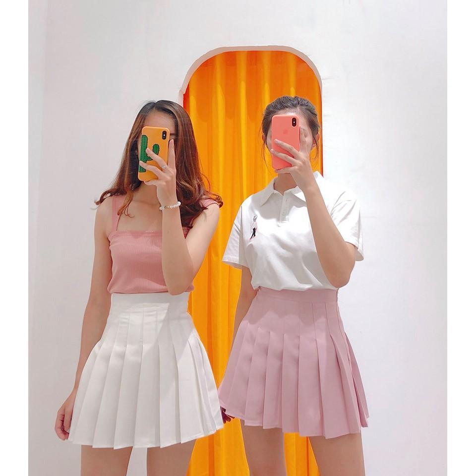 Chân Váy TennisKẻ Caro Hàn Quốc Siêu Xinh VT01 4