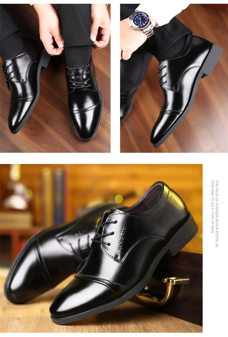Giày da thật nam giày da nam cao cấp giày nam công sở sang trọng, phong cách thời trang giày da cao cấp giày nam mẫu mới mã 8867-A 4