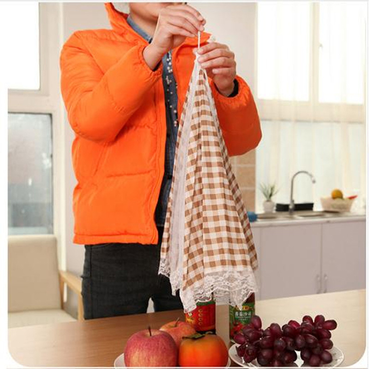 Grid Style Lace Kitchen Food Dish Cover Umbrella Folded Hygiene Health