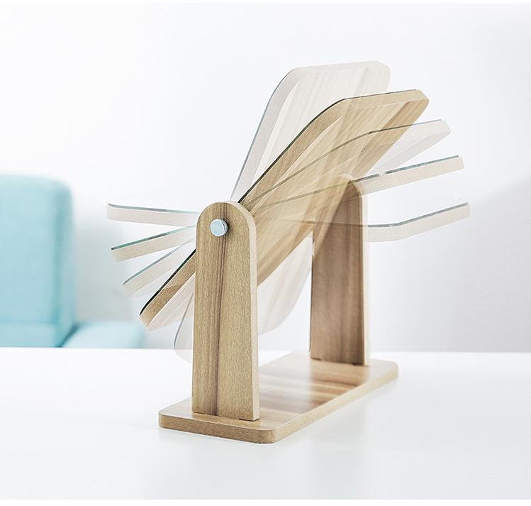 Gương soi trang điểm để bàn cao cấp xoay được 360 độ tiện dụng chất liệu gỗ ép chắc chắn kích thước 17 x 22 cm - Gương gỗ để bàn Trang Điểm 2