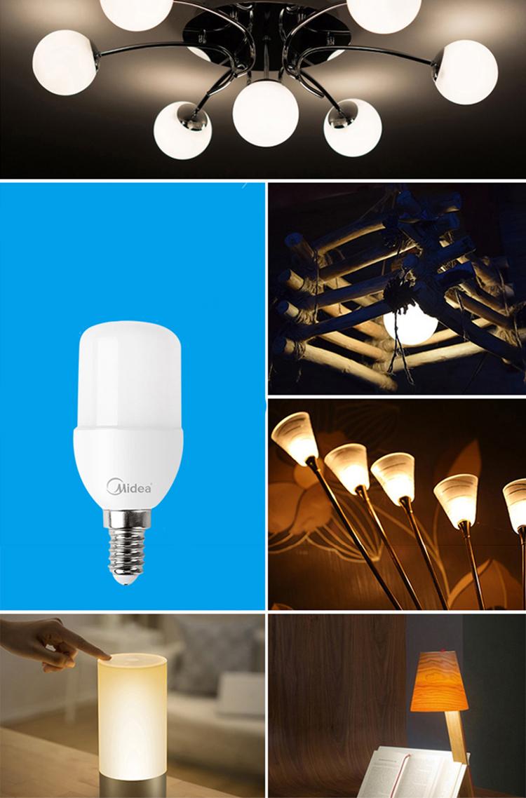 Bóng Đèn LED 3W Ánh Sáng Vàng Midea E14