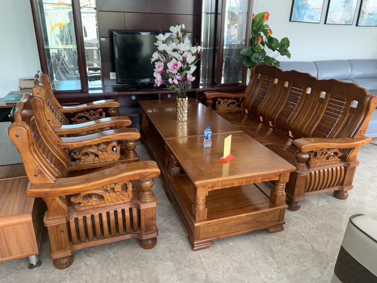 sofa gỗ xoan đào
