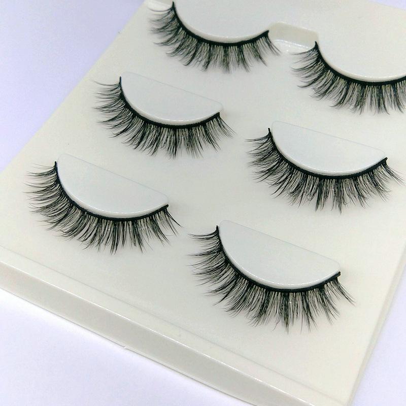 Lông mi giả lông chồn 3 Fashion Eyelashes 3 Faux-Cils 3D 1 bộ 3 cặp 6