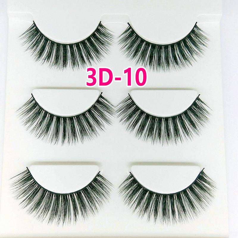 Lông mi giả lông chồn 3 Fashion Eyelashes 3 Faux-Cils 3D 1 bộ 3 cặp 38
