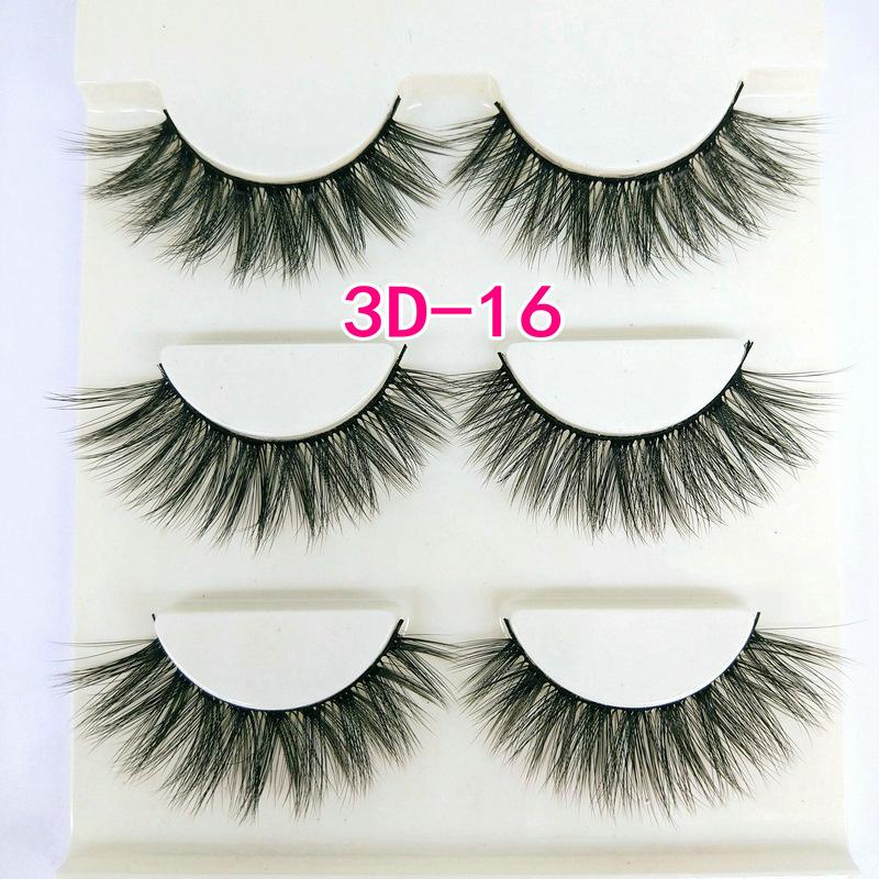 Lông mi giả lông chồn 3 Fashion Eyelashes 3 Faux-Cils 3D 1 bộ 3 cặp 62