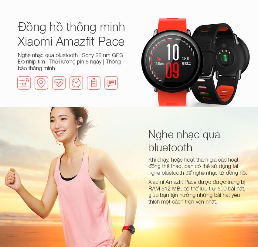 Đồng Hồ Thông Minh Xiaomi Amazfit Pace - Hàng Chính Hãng
