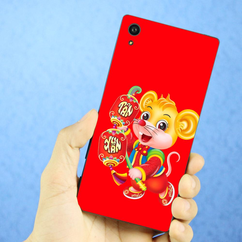 Ốp điện thoại dành cho máy Sony Xperia Z3 - Chuột cầm đèn lồng vui xuân 02 MS CCDLVX02