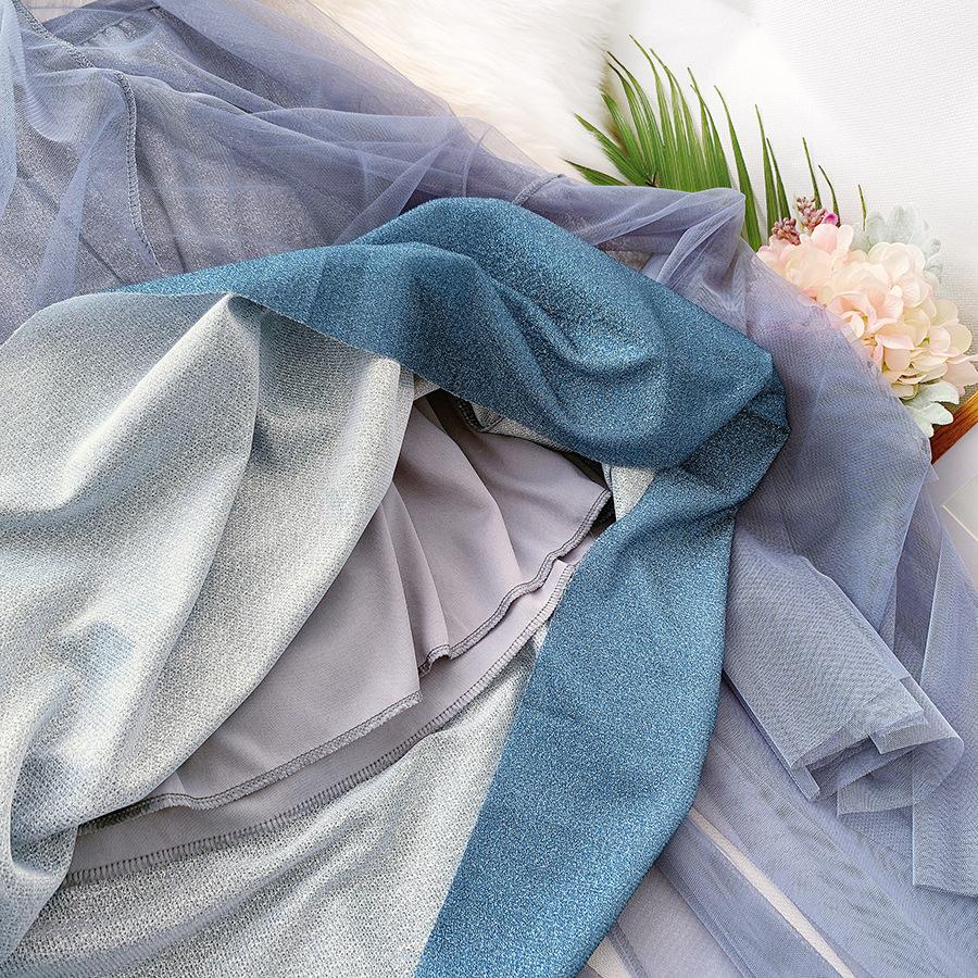 Váy xòe lưới tutu loang mầu lấp lánh VAY53 12