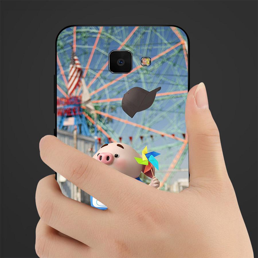 Ốp lưng cứng viền dẻo dành cho điện thoại Samsung Galaxy C9/C9 Pro - Heo Dễ Thương MS HDTDD023