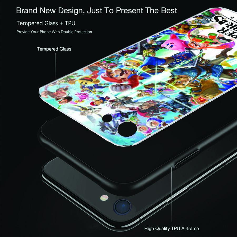 Ốp điện thoại kính cường lực cho máy iPhone 5/5s/se - super mario MS MARIO026