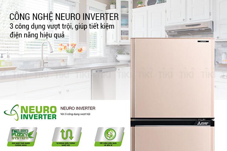 Tủ Lạnh Inverter Mitsubishi MR-FV32EJ-PS-V (274L)