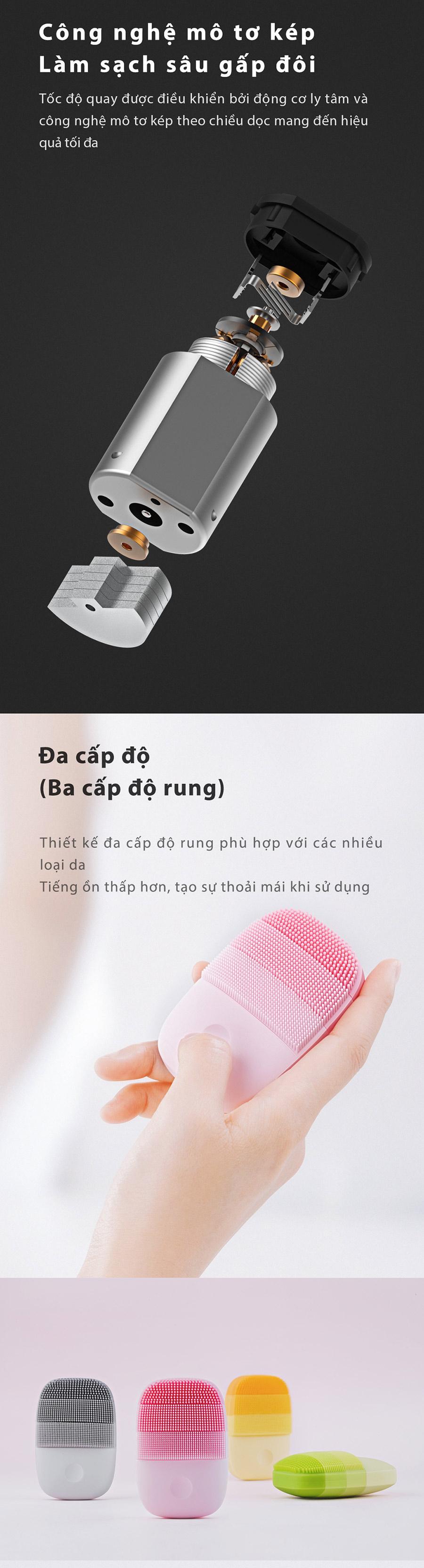 Máy rửa mặt sóng âm Xiaomi inFace