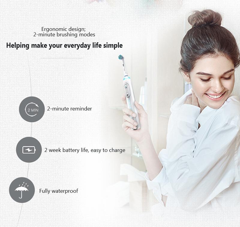 Bàn Chải Đánh Răng Sóng Điện Thông Minh BRAUN Oral-B iBrush9000 - Trắng