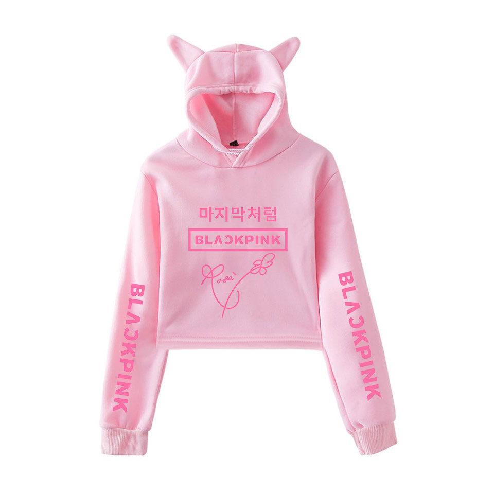 Áo hoodie nữ tai mèo Blackpink 2