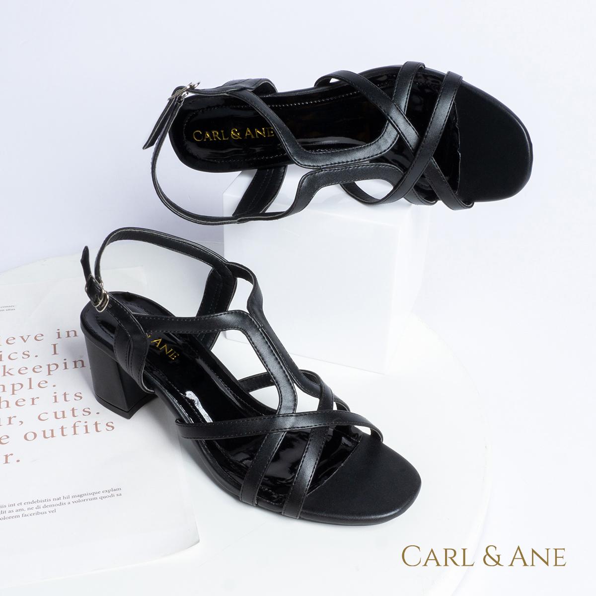 Gia y sandal phô i dây thời trang Erosska mu i vuông gót cao 5cm CS002 7
