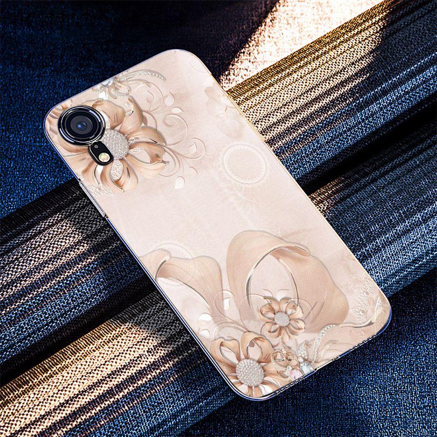 Ốp điện thoại kính cường lực cho máy iPhone XR - ngọc hoa MS NGHOA027