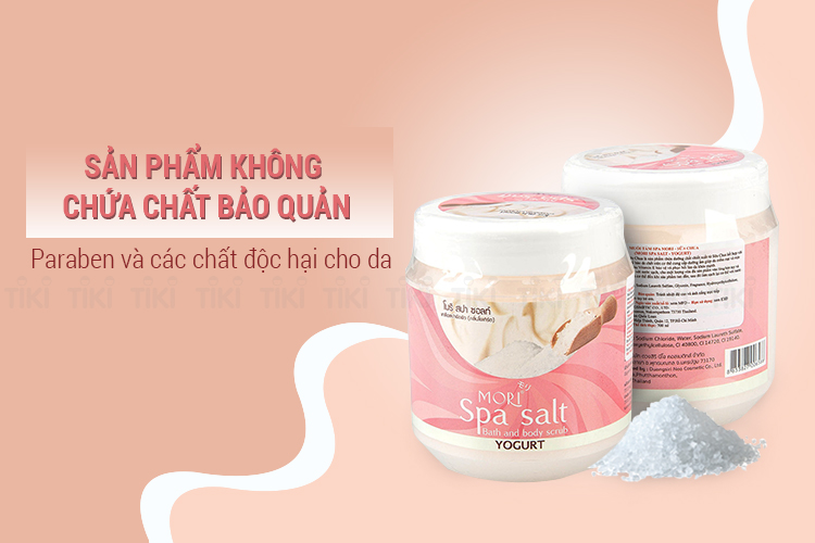 Muối Tắm Spa Mori Sữa Chua Mori Spa Salt - Yogurt (700ml)