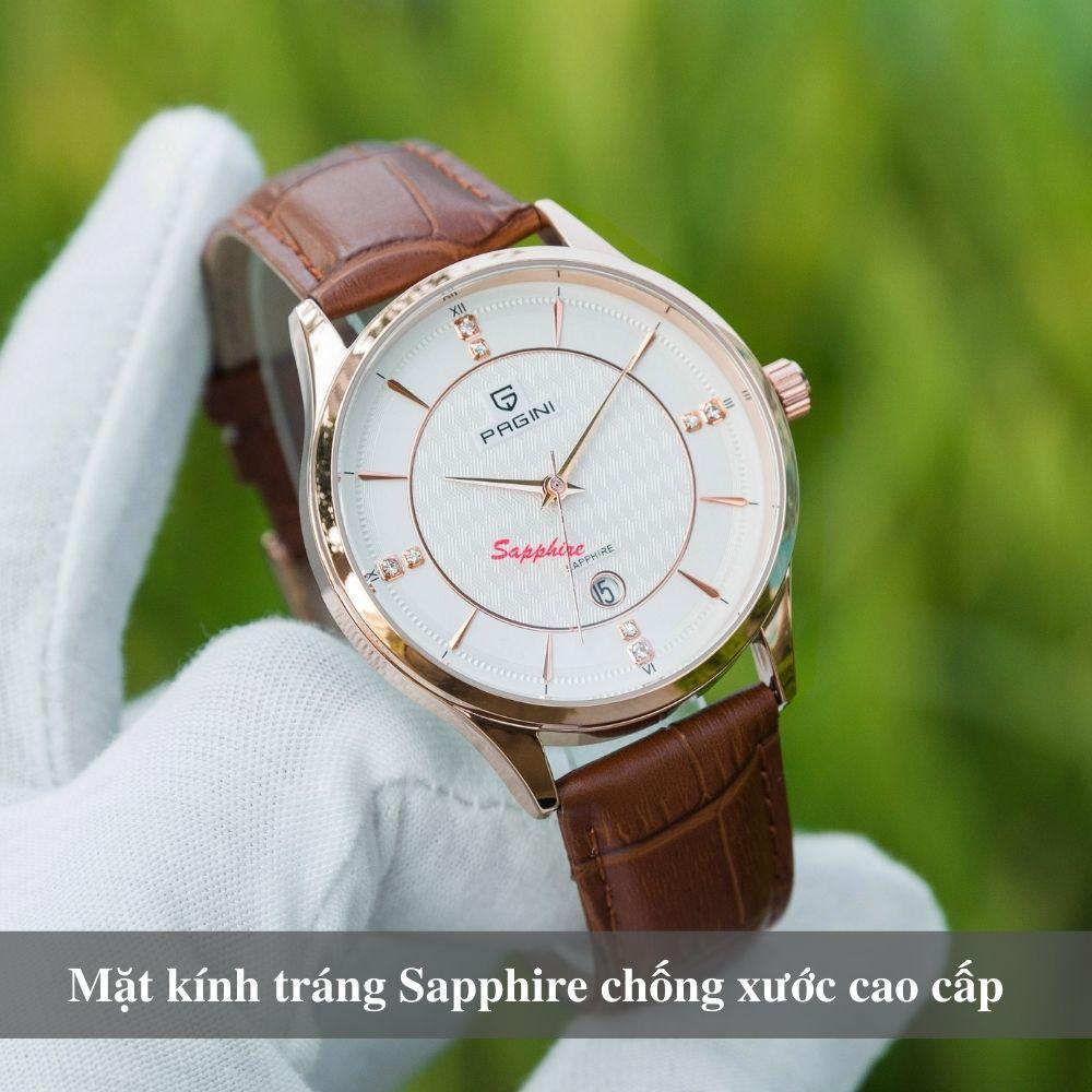 Đồng hồ nam PAGINI cao cấp chống nước - Mặt kính tráng sapphire chống xước - Phong cách sang trọng - Lịch lãm 7