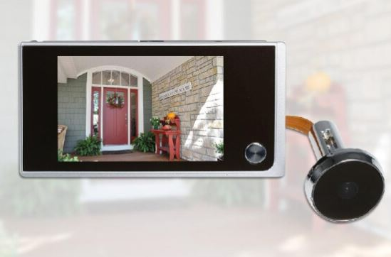 Digital Door Camera 3.5inch LCD Color Screen 120 Degree Peephole Viewer Door Eye Viewer (Batteries are not included)