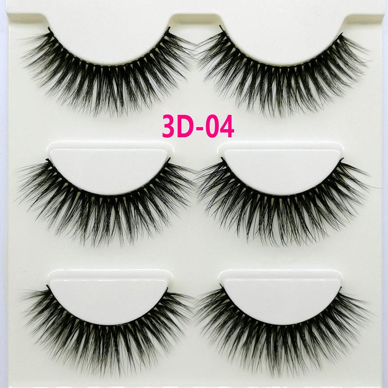 Lông mi giả lông chồn 3 Fashion Eyelashes 3 Faux-Cils 3D 1 bộ 3 cặp 15