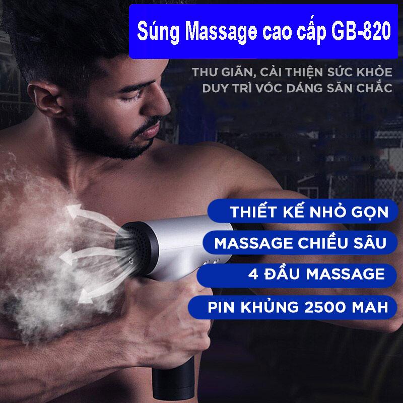Máy Massage Đa Năng Cầm Tay Fascial Gun Cao Cấp FH-320 - Hỗ Trợ Massage Chuyên Sâu - Giảm đau cơ - Giảm Cứng Khớp - Massage Toàn Thân - Tặng Kèm 4 Đầu Massage 3