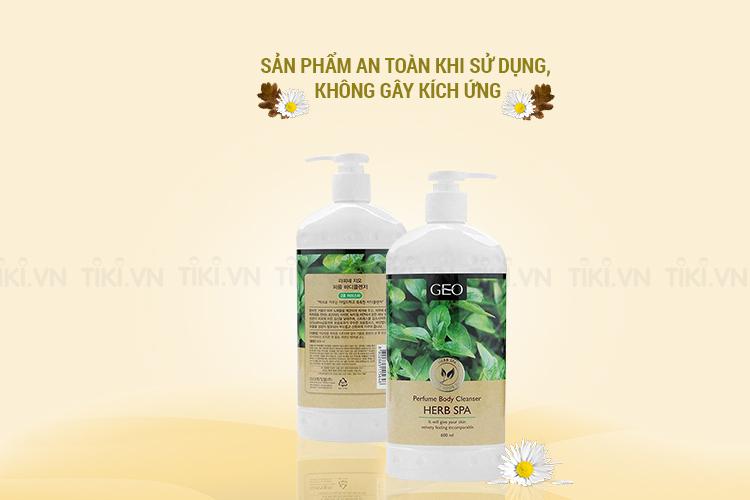 Sữa Tắm Trắng Da Thảo Dược Perfume Body Cleanser Herb Spa Geo (600ml)