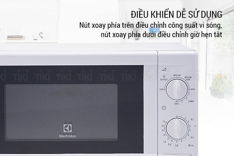 Lò Vi Sóng Cơ Có Nướng Electrolux EMM2021GW (20 lít) - Trắng - Hàng chính hãng