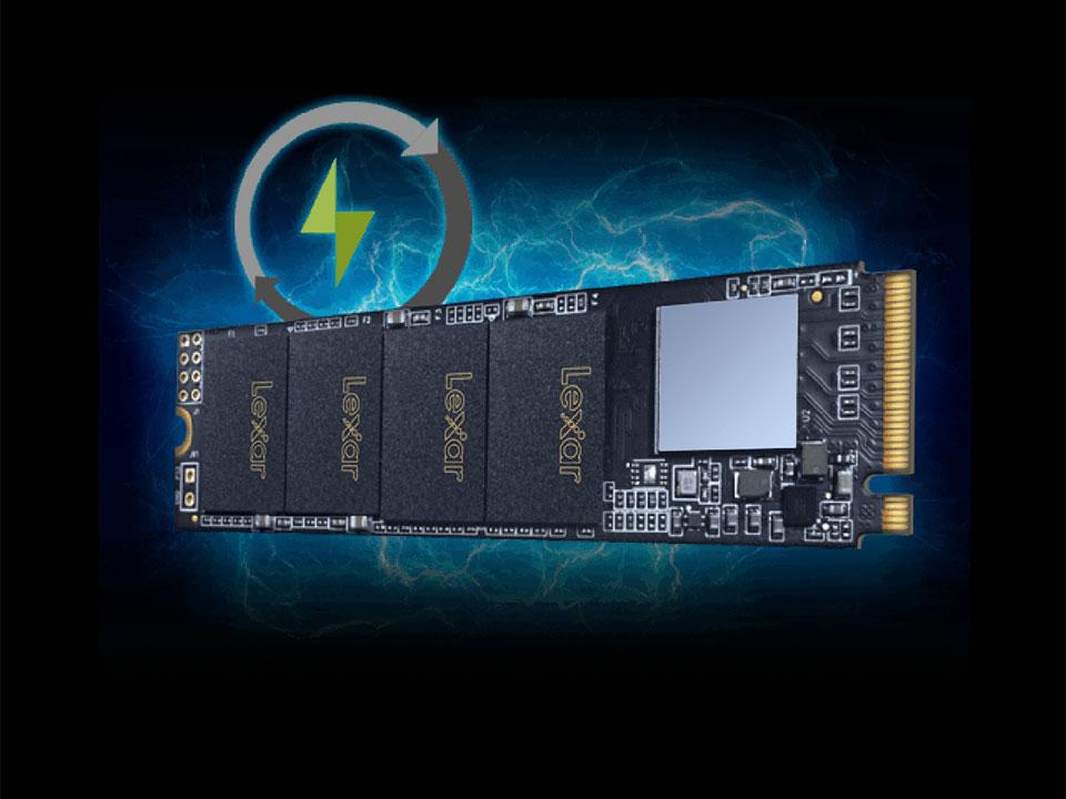 SSD M2 PCIe 2280 Lexar NM610 NVMe - 250GB