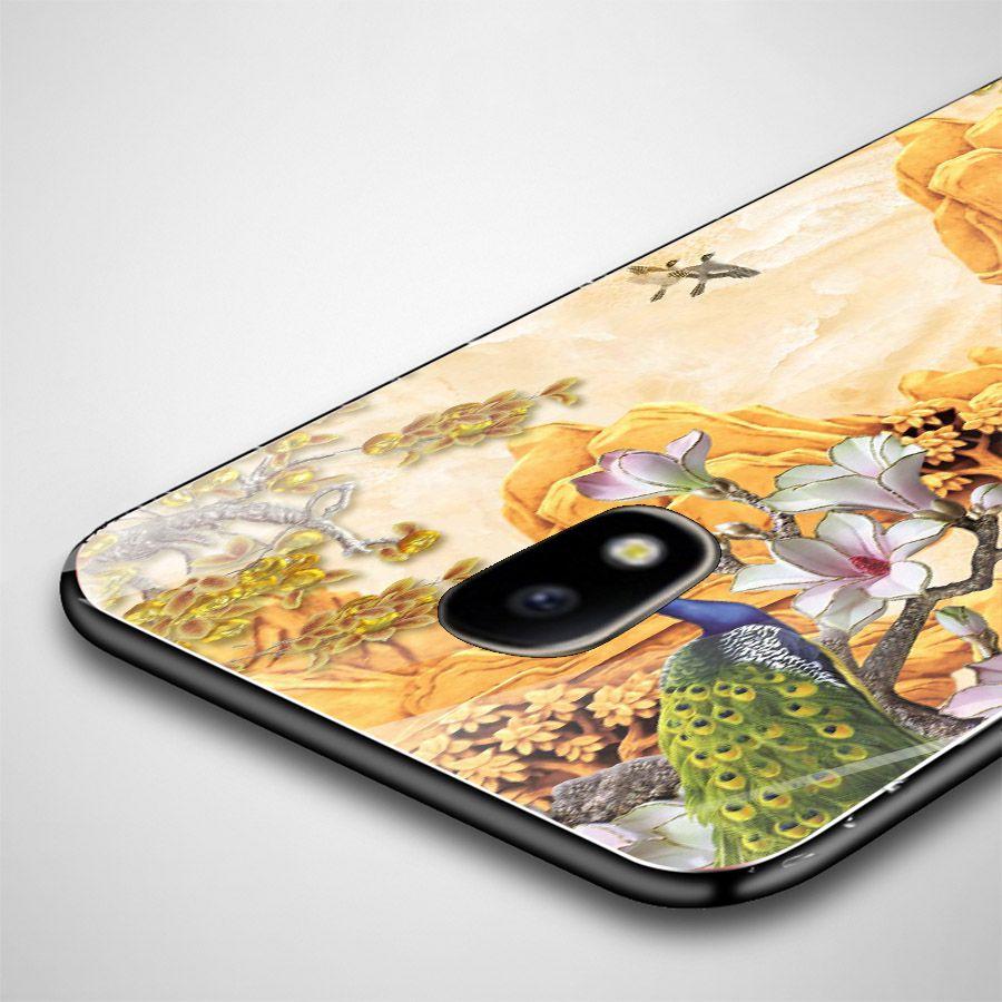 Ốp kính cường lực cho điện thoại Samsung Galaxy J3 2016/J310/J3 LTE - chim công phượng MS CPHUONG039