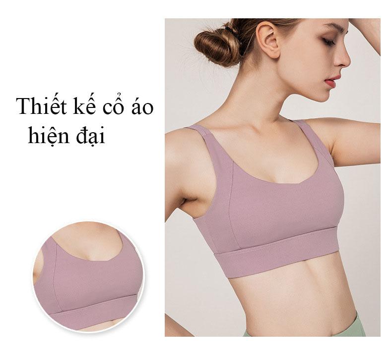 Áo Bra thể thao nữ, áo tập Gym Yoga mềm mịn, có đệm, kiểu áo lót mỏng mã WX-042 15