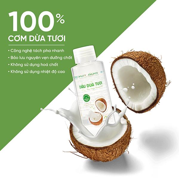 Dầu Dừa Tươi Coboté (100ml) - 100% Cơm Dừa Tươi Bến Tre - VCO