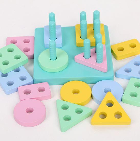 Thả hình thông minh 16 khối gỗ 1