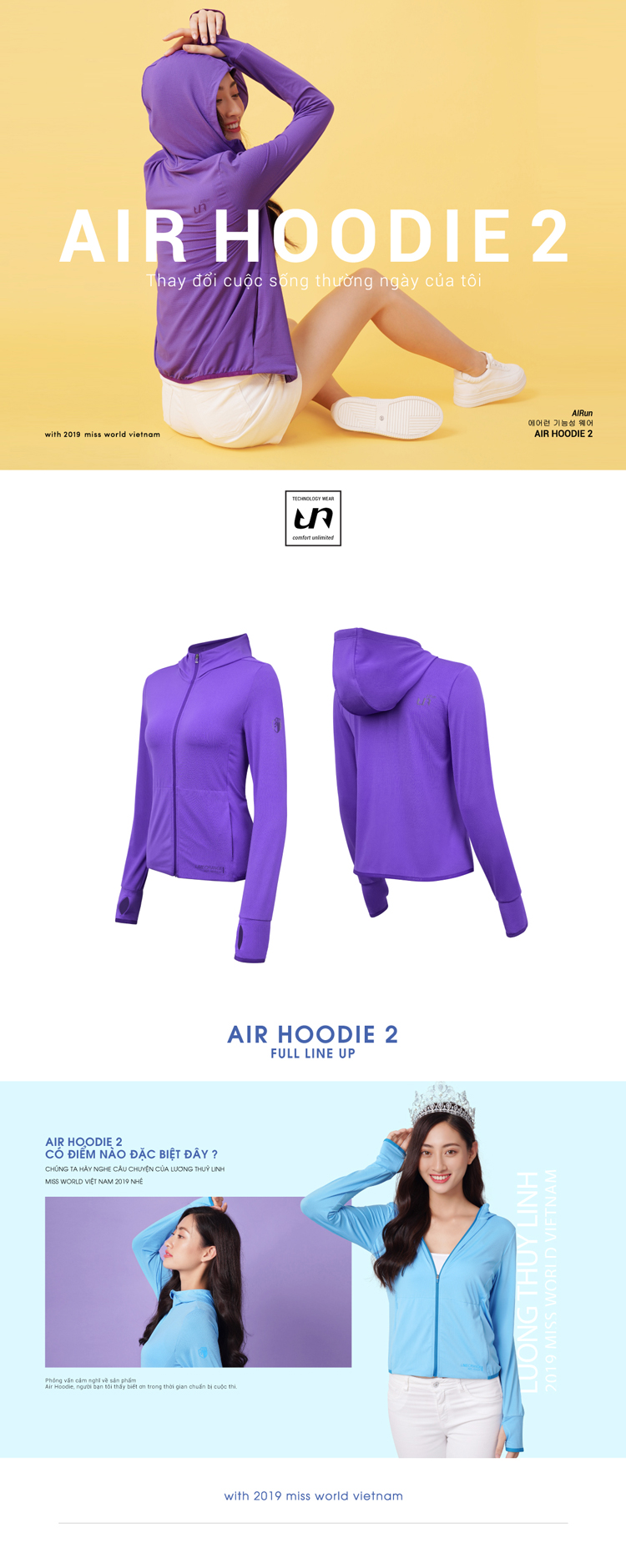 Áo khoác nữ Air Hoodie LO19707101-PU